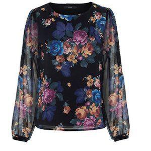NEW Vero Moda Floral Long Sleeve Top | Size M